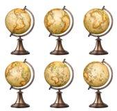 Globi di vecchio stile messi Immagine Stock