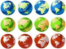Globi di vetro del mondo Immagine Stock Libera da Diritti
