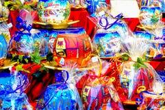 Globi di vetro della candela di Natale Fotografia Stock