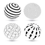 Globi di vettore illustrazione di stock