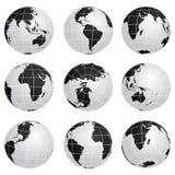 Globi di vettore - varia girata illustrazione di stock