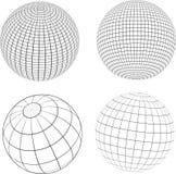Globi di Wireframe Fotografia Stock