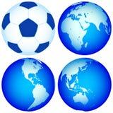 Globi e mappa Fotografia Stock Libera da Diritti