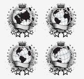 Globi impostati Fotografie Stock