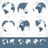 Globi messi - illustrazione Immagini Stock