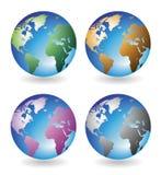 Globi multicolori Fotografia Stock Libera da Diritti