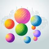 Globi variopinti del fondo - fondo astratto geometrico illustrazione vettoriale