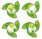 Globi verdi Immagini Stock