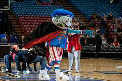 Globie the Mascot. SACRAMENTO, CA - January 15: Globe the mascot for the Harlem Globetrotters performs before the game at Power Balance Pavilion in Sacramento Royalty Free Stock Image