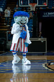 Globie the Mascot. SACRAMENTO, CA - January 15: Globe the mascot for the Harlem Globetrotters performs before the game at Power Balance Pavilion in Sacramento royalty free stock photos