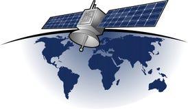 Globla卫星comunication 免版税库存照片
