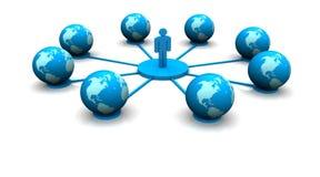 Globle Network stock illustration
