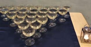 Globlets di vino bianco Immagine Stock