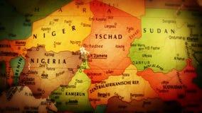 Globo África - ascendente cercano - 4k almacen de metraje de vídeo