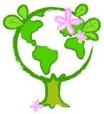Globo-árvore estilizado 2 ilustração royalty free