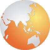 Globo Ásia Fotografia de Stock Royalty Free