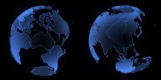 Globo, Ásia e Austrália da raia X Fotografia de Stock Royalty Free