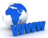 Globo 001 do mundo de WWW Foto de Stock