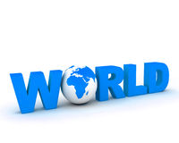 Globo 002 del mundo de WWW Imagen de archivo