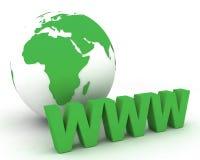 Globo 006 del mondo di WWW Immagini Stock