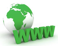 Globo 006 do mundo de WWW Imagens de Stock