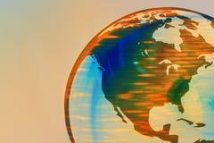 Globo 1 da terra (America do Norte) Imagem de Stock