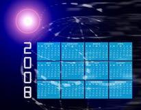 Globo 2008 o mondo del calendario illustrazione di stock