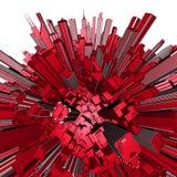 Globo 3D da esfera da cidade Imagens de Stock