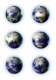 globo 3d em 6 vistas ilustração do vetor