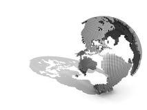 globo 3D isolato su bianco (lato dell'America) Fotografie Stock