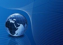 globo 3d no azul com linhas Imagem de Stock
