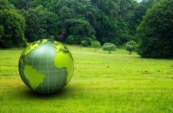 globo 3d verde Foto de Stock
