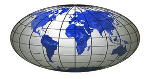 Globo 5 del mundo de la raya Fotos de archivo libres de regalías