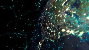 Globo abstracto con las conexiones digitales Concepto de la comunicación ilustración del vector