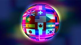 Globo abstrato com bandeiras Fotografia de Stock Royalty Free
