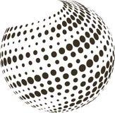 Globo abstrato com reticulação Foto de Stock