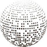 Globo abstrato com reticulação Imagens de Stock