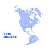 Globo abstrato do vetor isolado no fundo branco Imagens de Stock Royalty Free