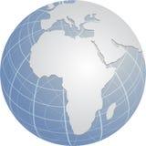 Globo Africa Fotografia Stock