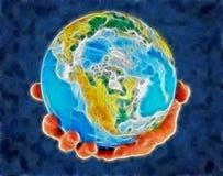 Globo, in america concentrare royalty illustrazione gratis