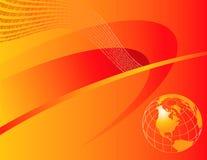 Globo anaranjado con el binario   libre illustration
