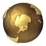 Globo a Antártica do ouro ilustração stock