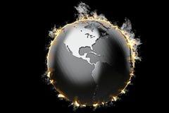 Globo ardiente de la tierra ilustración 3D libre illustration