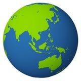 Globo/Asia y Australia Imágenes de archivo libres de regalías