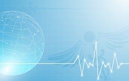 Globo astratto con il fondo medico di concetto di progetto di tecnologia dell'innovazione di sanità Fotografia Stock Libera da Diritti