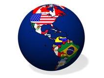 Globo astratto con le bandiere Fotografie Stock Libere da Diritti