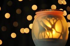 Globo astratto della candela di tramonto delle giraffe del fondo fotografia stock