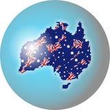 Globo australiano royalty illustrazione gratis
