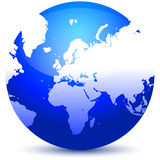 Globo azul stock de ilustración