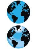 Globo azul Imágenes de archivo libres de regalías